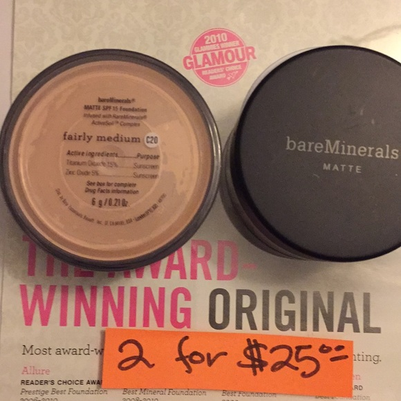 bareMinerals Other - Bare Mineral Foundation MATTE fairly medium